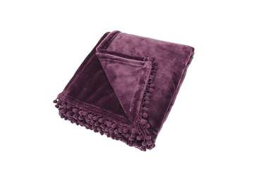 Cashmere touch throw aubergine - Walton &amp Co