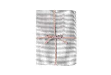 Mini gingham tablecloth dove grey (130x230cm) - Walton &amp Co