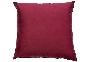 Plain silk cushion cover wine - Walton &amp Co