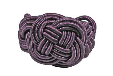 Twisted knot napkin ring violet (set of 4) - Walton &amp Co