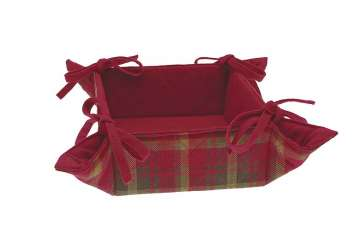 Woodland tartan bread basket - Walton &amp Co
