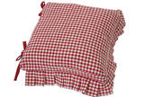 Auberge cushion cover frill & ties red