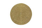 Circular beaded placemat antique gold
