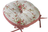 Rose cottage round seat pad with ties