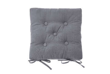 Seat pad with ties storm grey - Walton & Co