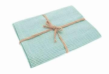 Mini Gingham Tablecloth Ocean (130x230cm)   Walton U0026 Co