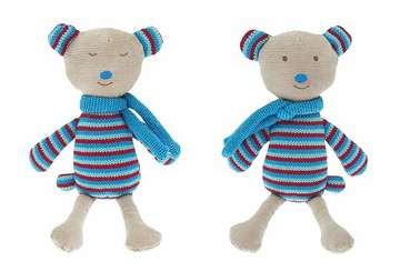 Knitted reversible bear - Billy - Walton &amp Co