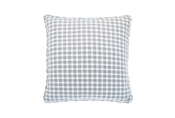 Portland check cushion dove grey - Walton & Co