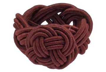 Twisted knot napkin ring red (set of 4) - Walton & Co