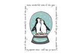 Wonderful time penguin tea towel
