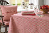 County ticking tablecloth dorset red (150x280cm)
