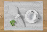 County ticking placemat suffolk grey (set of 2)